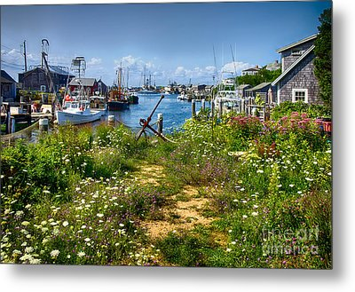 Menemsha Metal Print by Mark Miller