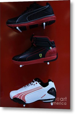 Men's Sports Shoes - 5d20675 Metal Print by Wingsdomain Art and Photography