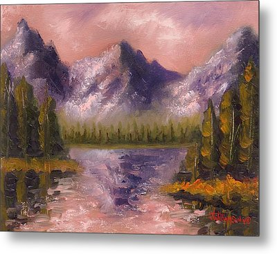 Metal Print featuring the painting Mental Mountain by Jason Williamson