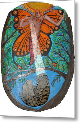 Mentor Protege Metal Print by Joanna Whitney