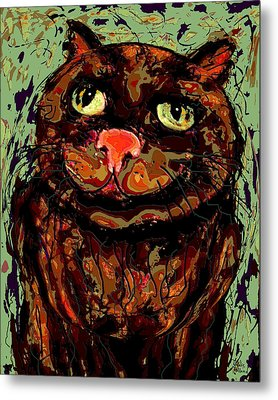 Meow Metal Print by Natalie Holland