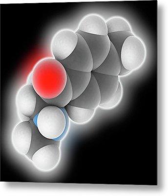 Mephedrone Drug Molecule Metal Print by Laguna Design
