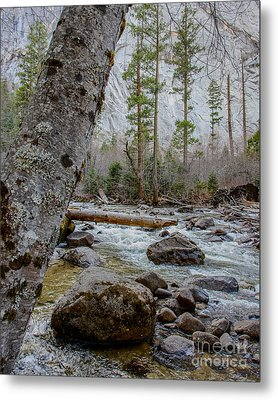 Merced River From Happy Isles Metal Print