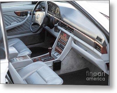 Mercedes 560 Sec Interior Metal Print by Gunter Nezhoda