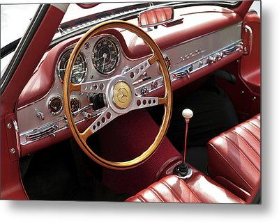 Mercedes Benz Gullwing 1956 Metal Print