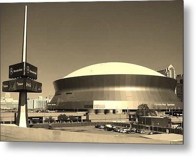 Mercedes Benz Superdome - New Orleans La Metal Print