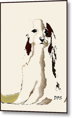 Mercedes  - Our Cavalier King Charles Spaniel  No. 9 Metal Print