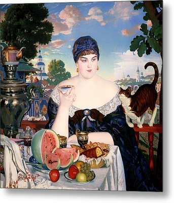 Merchant's Wife At Tea Metal Print