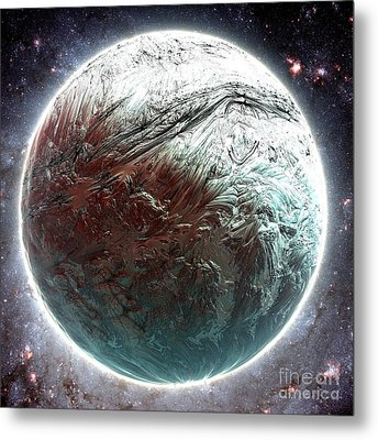 Mercury Planet Metal Print by Bernard MICHEL