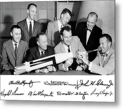 Mercury Seven Astronauts Metal Print