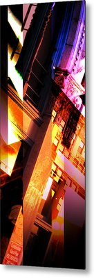 Merged - Arched Pink Metal Print by Jon Berry OsoPorto