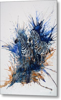 Merging With Shadows Metal Print by Zaira Dzhaubaeva