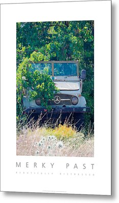 Merky Past Beautifully Distressed Poster Metal Print by David Davies