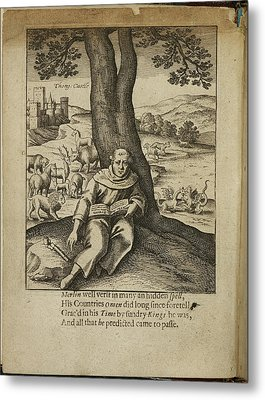 Merlin Sitting Under A Tree Metal Print