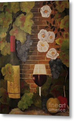 Metal Print featuring the painting Merlot For The Love Of Wine by John Stuart Webbstock