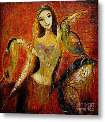 Mermaid Bride Metal Print by Shijun Munns