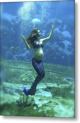 Mermaid Madonna Metal Print by Julie Komenda