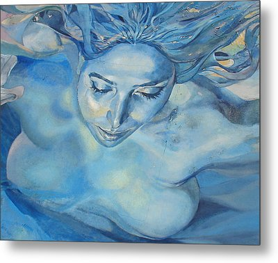 Mermaid Metal Print by Ramona Johnston
