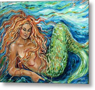 Mermaid Sleep New Metal Print