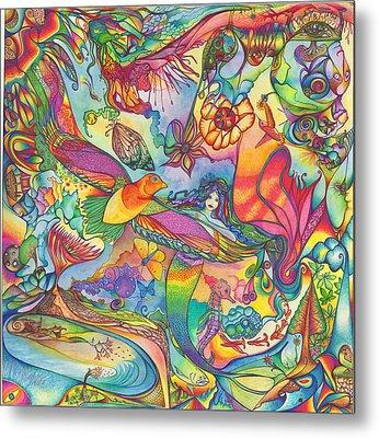 Mermaid Towne Metal Print by DiNo and Dart