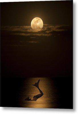 Mermaid's Moonsong Metal Print by Paula Porterfield-Izzo