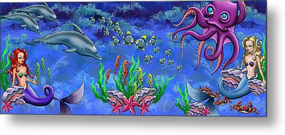 Mermaid's World Metal Print