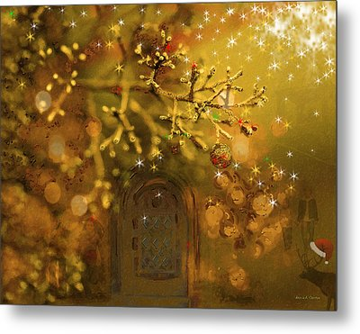 Merry Christmas Metal Print by Angela A Stanton