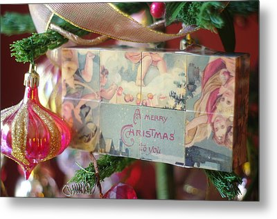Metal Print featuring the photograph Merry Christmas Greeting by Suzanne Powers