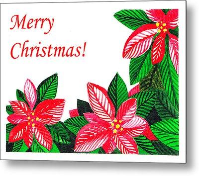 Merry Christmas Metal Print by Irina Sztukowski