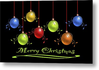 Metal Print featuring the digital art Merry Christmas by Katy Breen