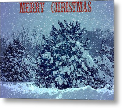 Merry Christmas Snow Metal Print by Dan Sproul