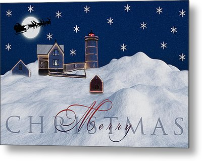 Merry Christmas Metal Print by Susan Candelario