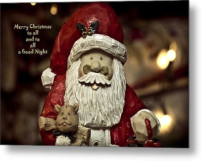 Merry Christmas To All Metal Print by Trish Tritz