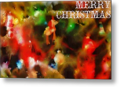 Merry Christmas Tree Decorations Metal Print by Dan Sproul