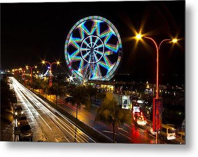 Merry Ferris Wheel Metal Print