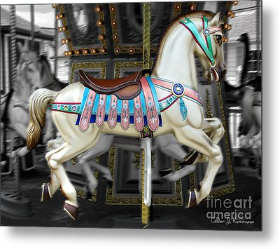 Merry Go Round Metal Print by Colleen Kammerer