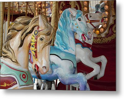 Merry-go-round Horses At Indiana State Metal Print