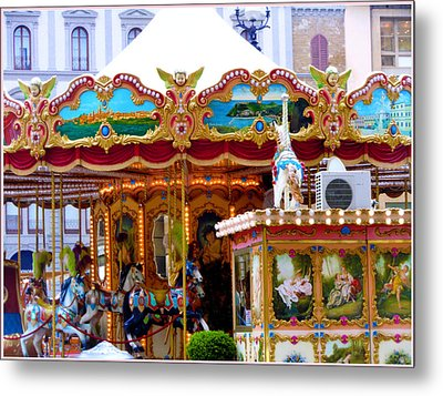Merry Go Round Metal Print by Mindy Newman
