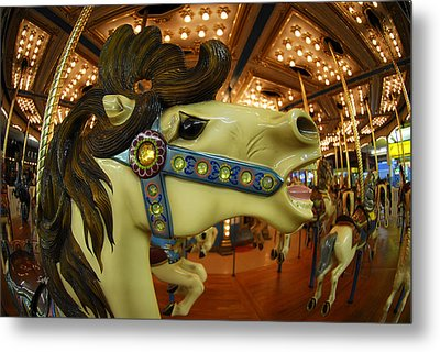Metal Print featuring the photograph Merry Go Round by Sami Martin