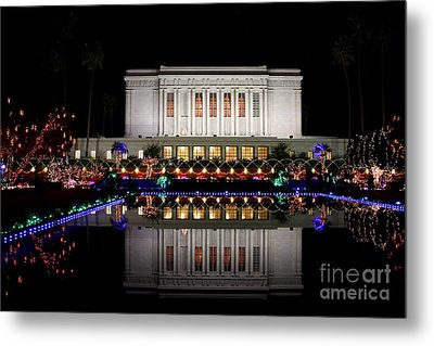 Metal Print featuring the photograph Mesa Temple by Ruth Jolly