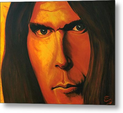 Mesmerizing Eyes   Niel Young Metal Print