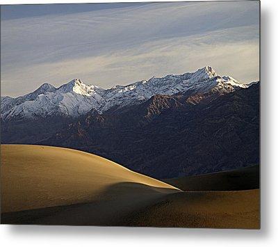 Mesquite Dunes And Grapevine Range Metal Print by Joe Schofield
