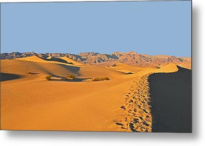 Metal Print featuring the photograph Mesquite Flat Sand Dunes - Death Valley by Dana Sohr