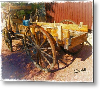 Mesquite Wagon Metal Print
