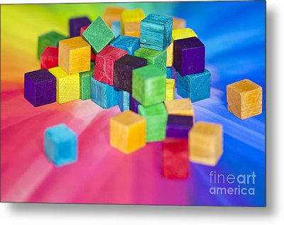 Mess Of Colour Metal Print by Dee Cresswell