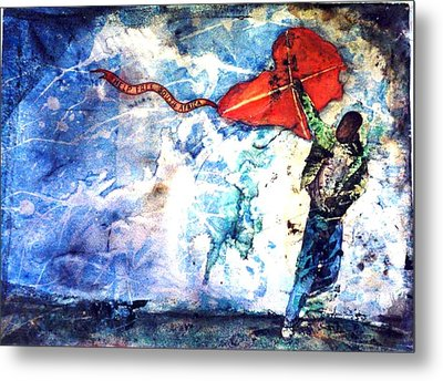 Message In The Wind Metal Print by Ron Carson