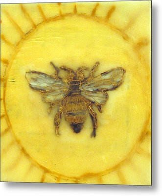 Message Of The Bees 3 Metal Print by Janelle Schneider