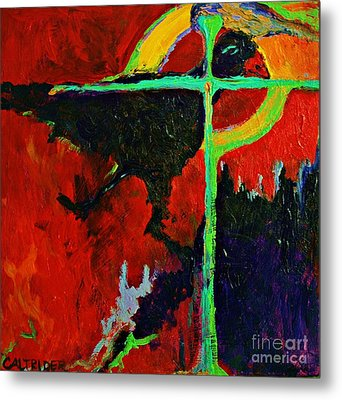 Metal Print featuring the painting Message To The Spirit by Alison Caltrider