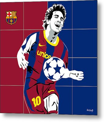 messi Football Metal Print by Roby Marelly