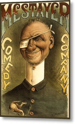 Mestayer Comedy Company Metal Print by Aged Pixel